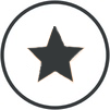 Graphic of  a star for ratings, reviews