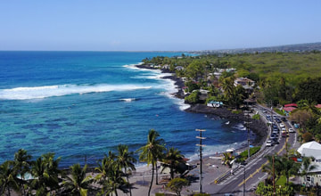 Aerial view of Big Island's Kona Coastline