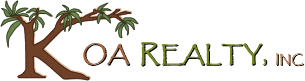Logo for Big Island Real Estate Brokerage, Koa Realty, Inc